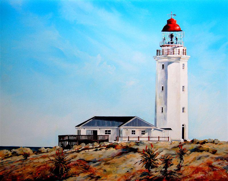 Hermanus Based Artist Terry Kobus Lighthouse At Danger