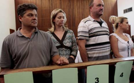 An alleged rhino poaching syndicate in the dock