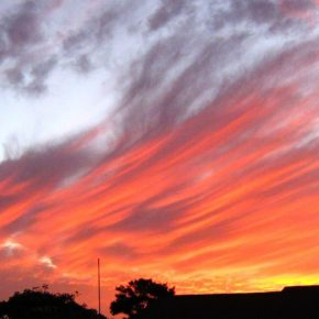 South African Sunset Painted By The Master Scientist